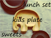 lunch set kids plate sweets